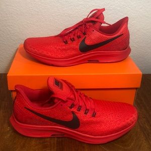 Nike Air Zoom Pegasus 35 RED/BLACK Sz 9.5 Running